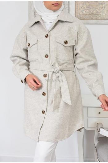 Veste sur chemise automne hiver pas cher