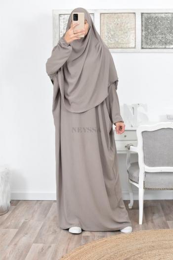 Abaya hijab intégré pas cher