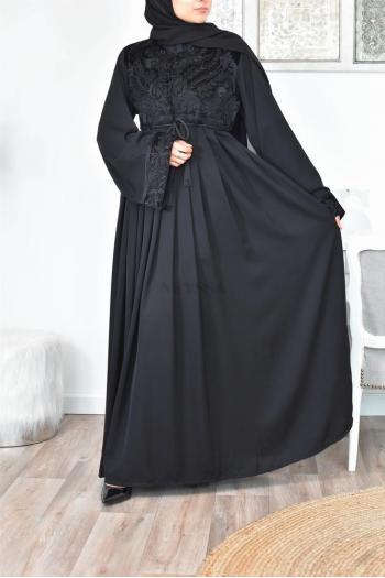 Abaya Dubaï Buste Velours