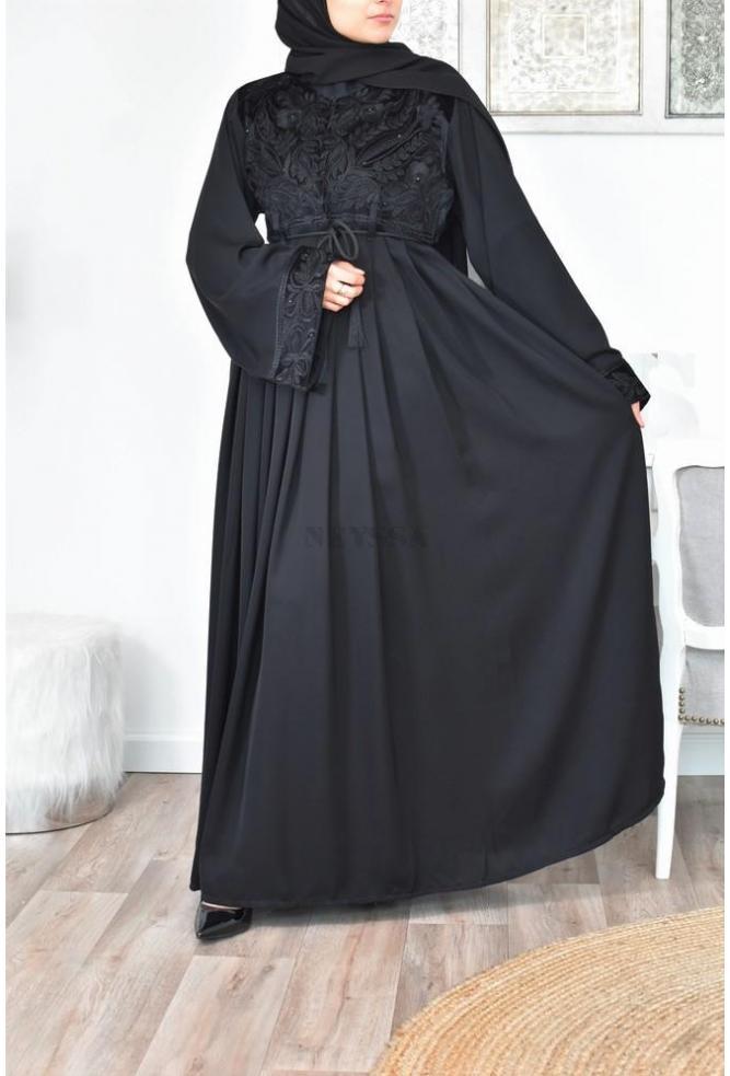Abaya Dubaï Velvet bust