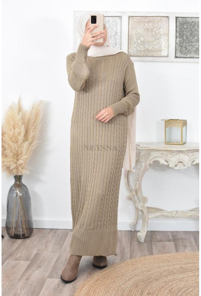 Robe longue Pull mode musulmane pas cher