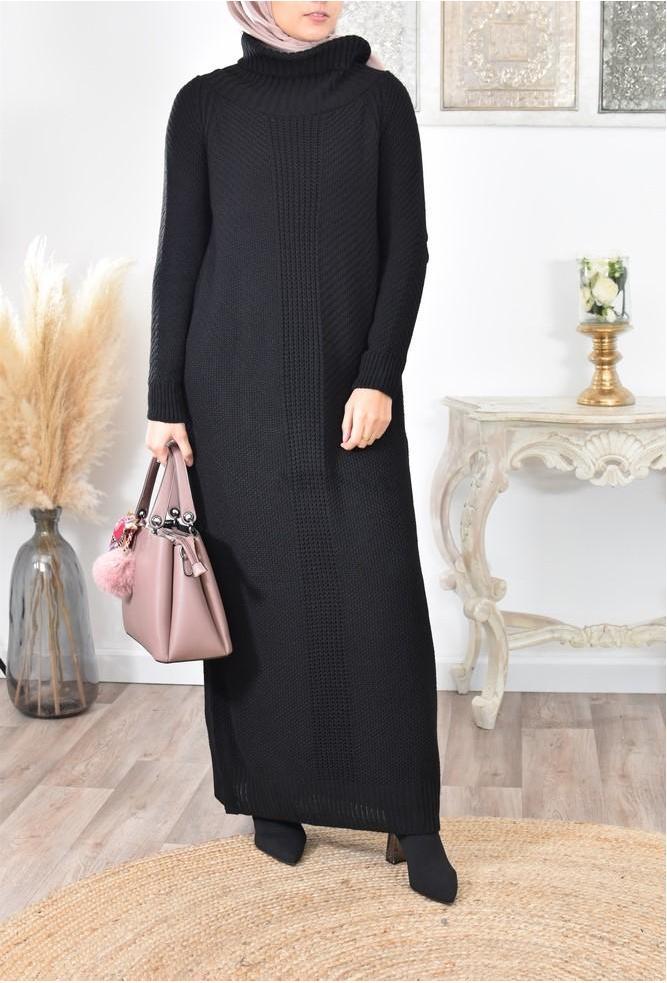 Robe longue en laine femme musulmane