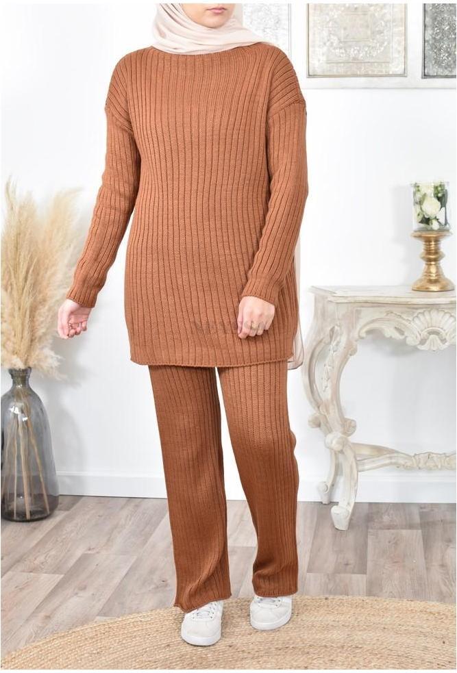 Ensemble tricot hver femme musulmane