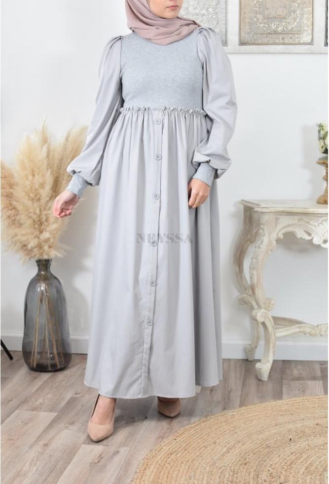 Robe bi matière mode musulmane