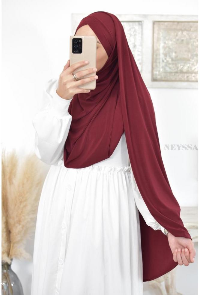 Meyssa integrated hijab bonnet