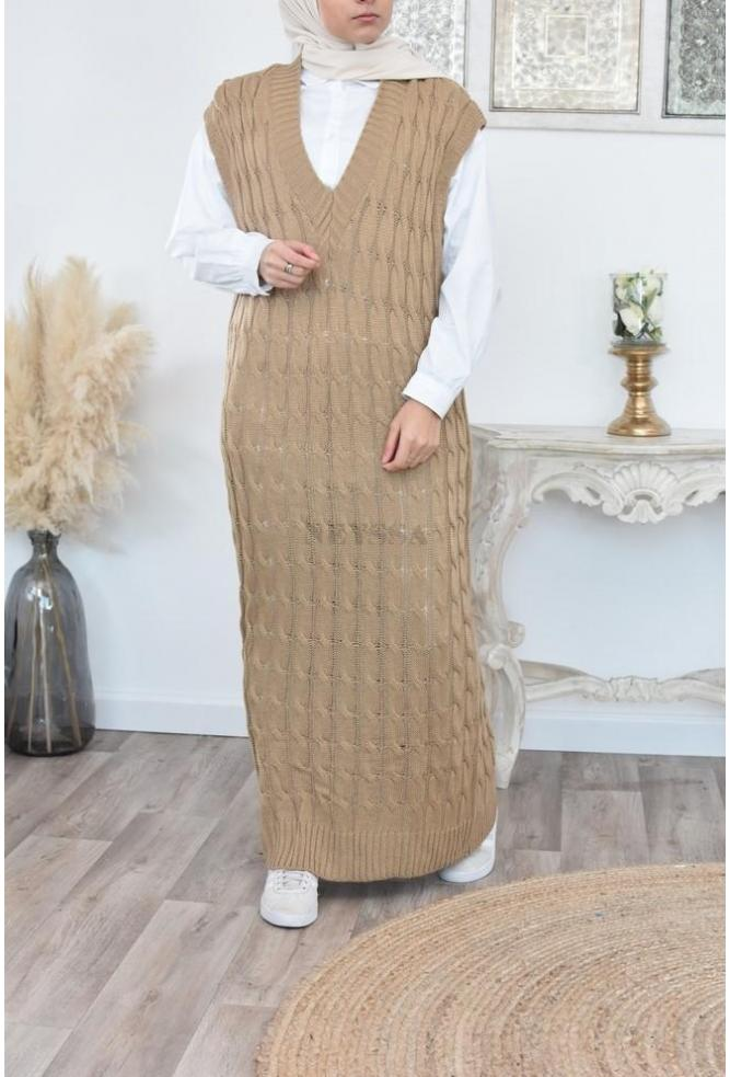 Robe pull longue Sans manches pas cher