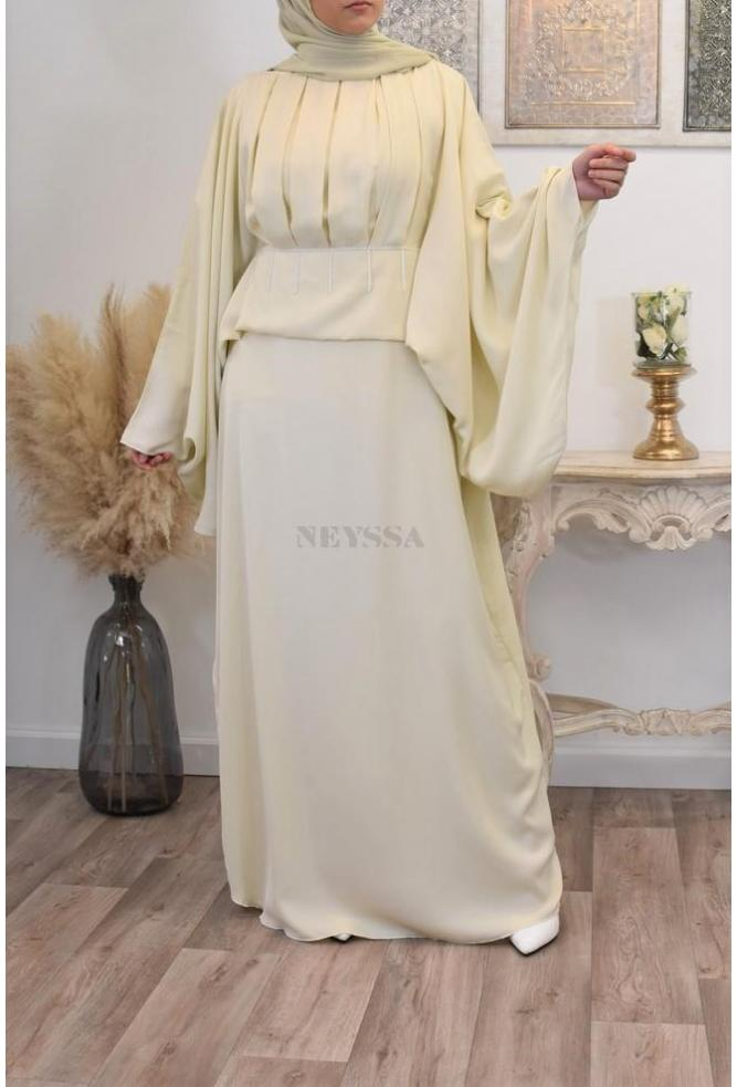 Abaya Dubai SAKYNA pastel for celebrations