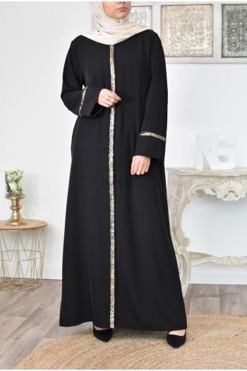 Robe Ethnique /à Manches Longues Abaya Dubai Kaftan pour Ramadan M-XXL Meijunter Robe Longue Musulmane avec Hijab pour Femme
