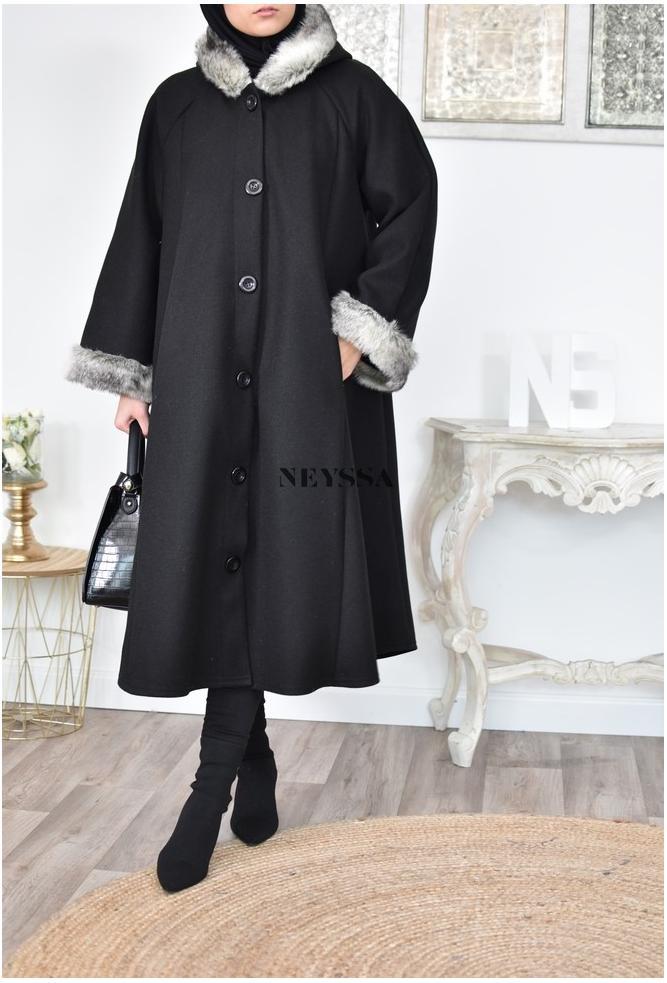 Manteau long évasée mastour