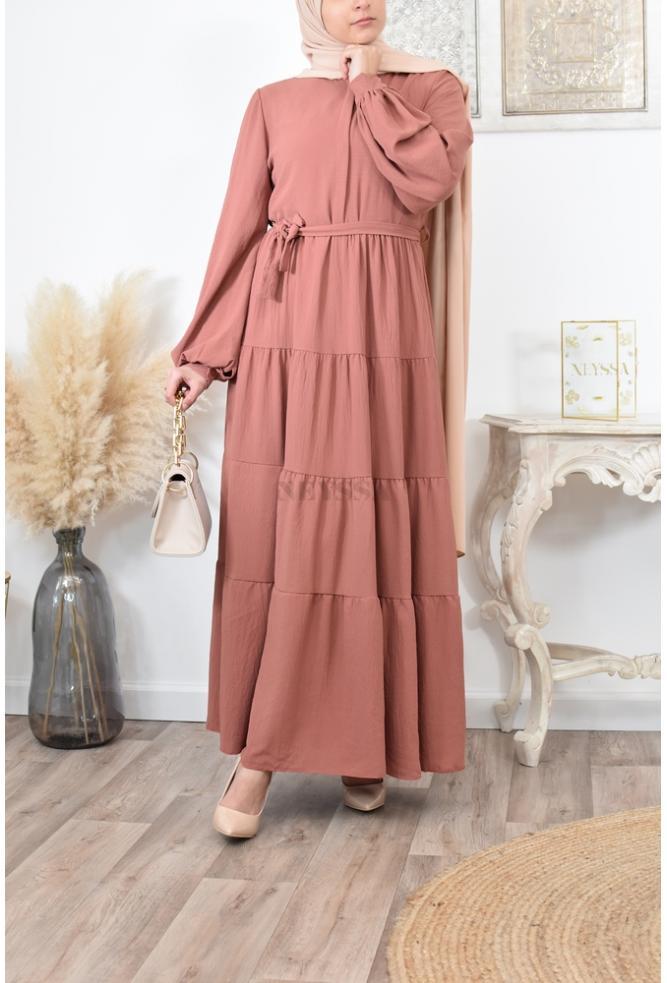 Flared maxi dress hijaber
