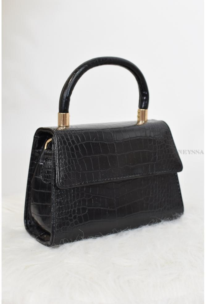 Chic and trendy simili-leather trapeze bag