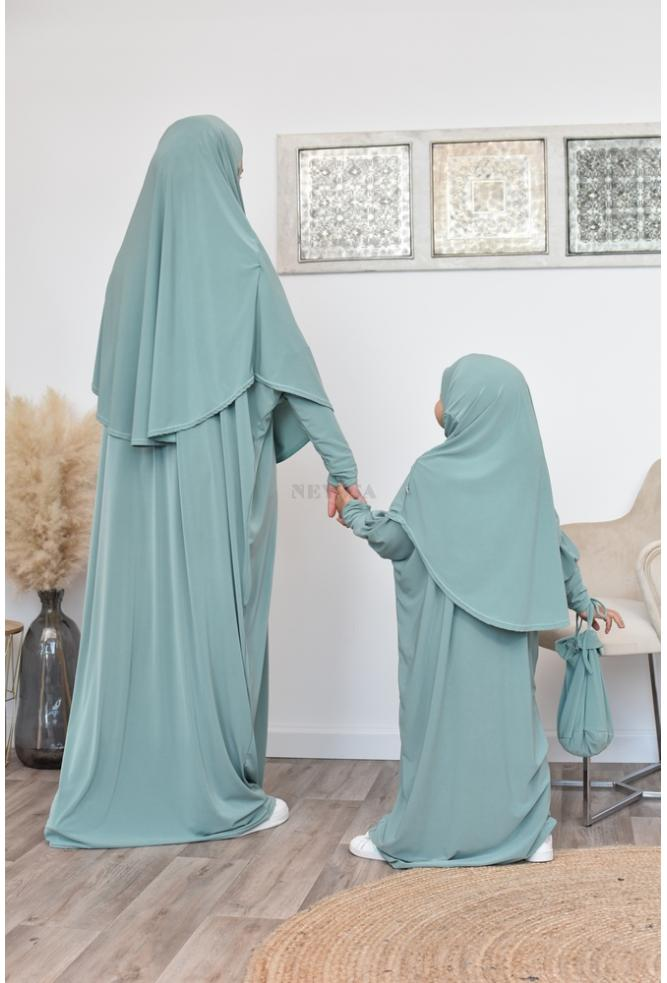children Hijab prayer dress