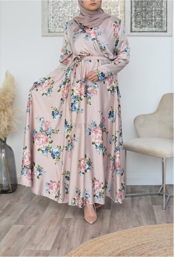 Selwâa floral cross bust dress