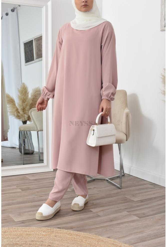modest fashion flared suit set