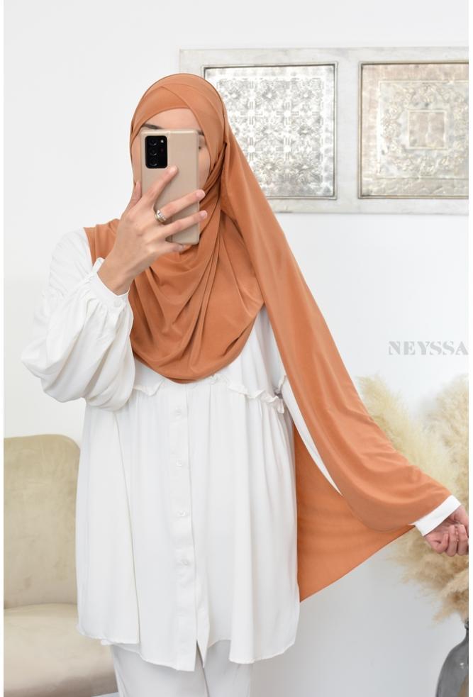 Maxi Hijab à enfiler jersey pas cher