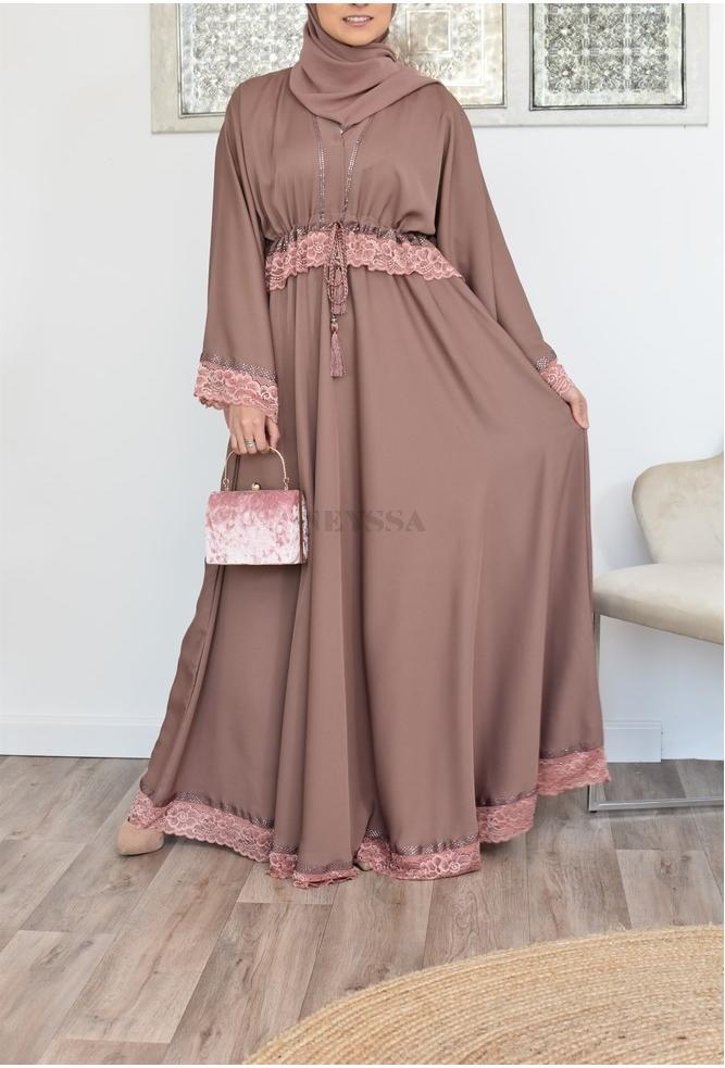 Abaya Dubai fluide évasée Modest Fashion