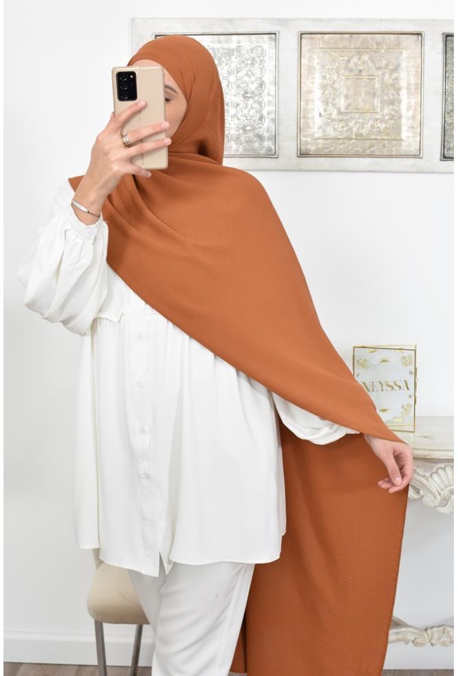 Hijab prêt à enfiler fluide pas cher