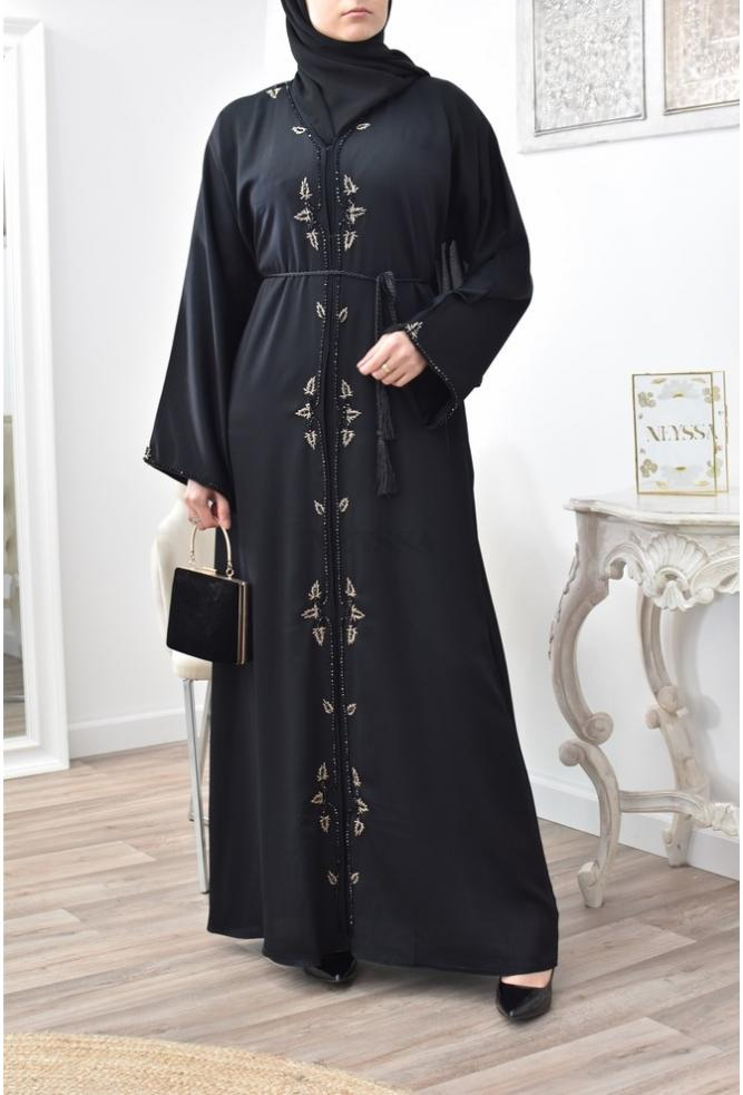 Long open abaya Dubai for Aid 2021