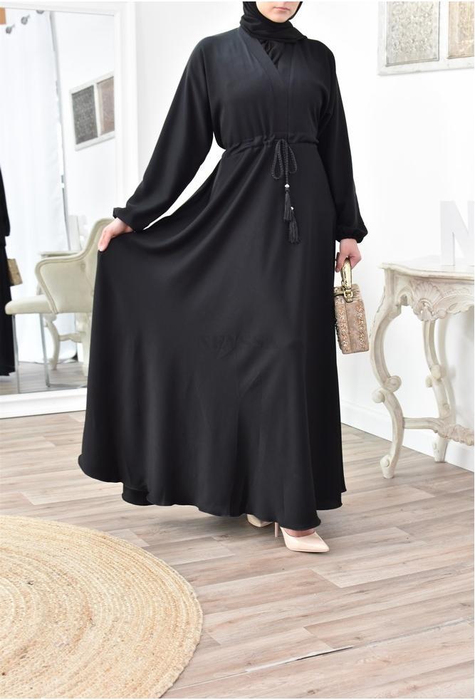 abaya femme évasée fluide de Dubaï