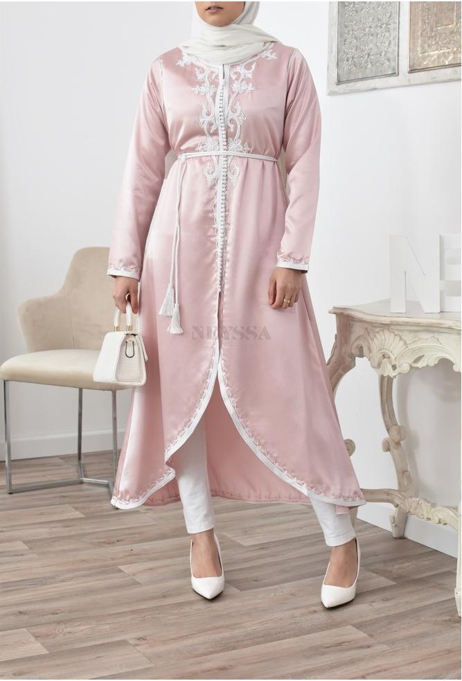 Kimono caftan Casablanca long pink