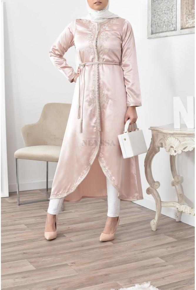 Kimono inspiration caftan long Casablanca nude