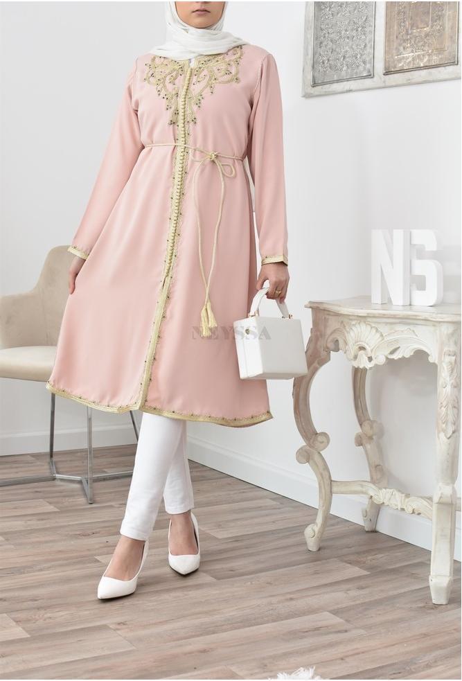 Tunic inspiration Moroccan caftan Pink