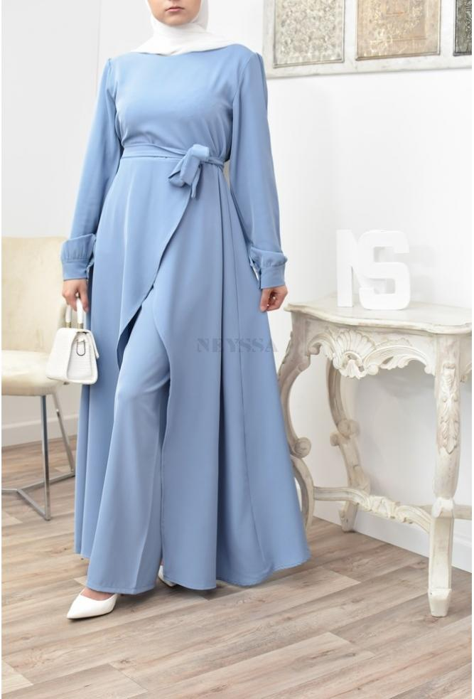Long veiled woman outfit for Eid and wedding