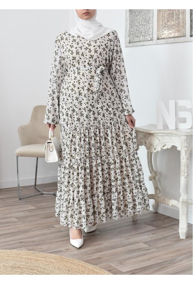 Bohemian chic floral langes Kleid