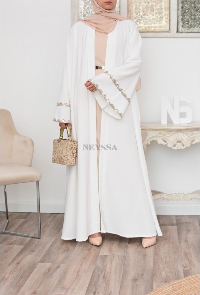 Flared and long kimono for muslim women