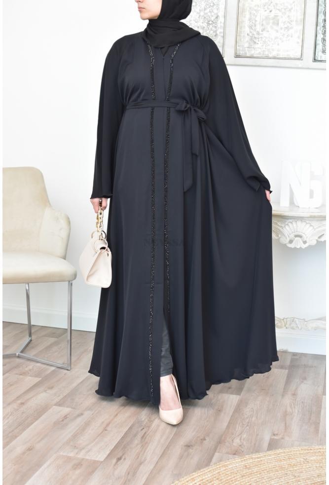 Lange Abaya Dubai für verschleierte Frauen