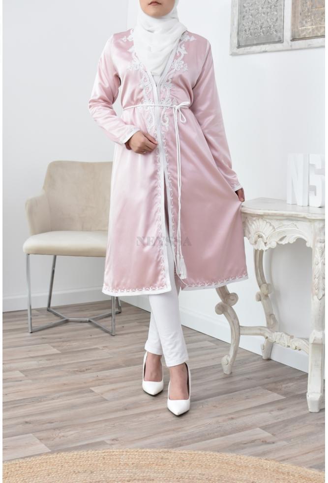 Kimono caftan coupe droite pour femme musulmane