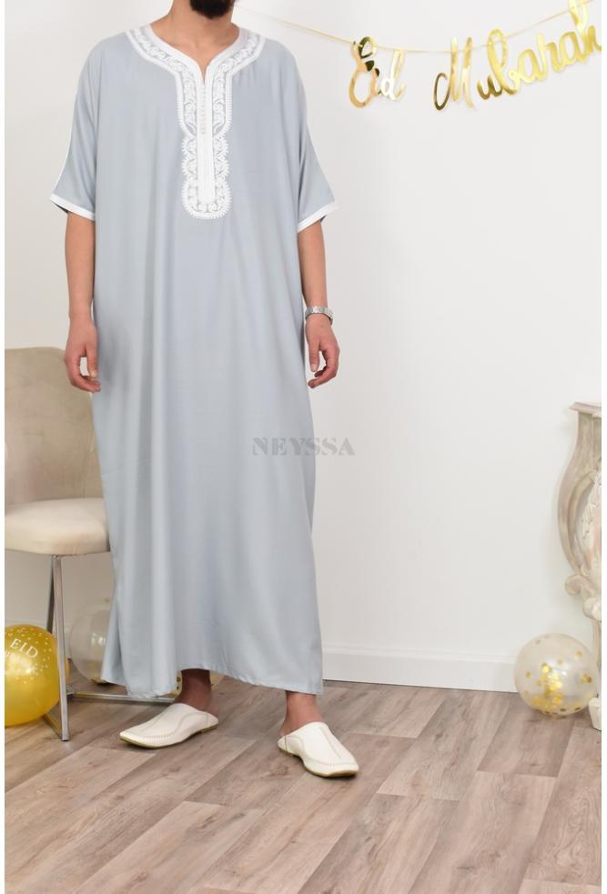 Abaya Gandoura Mann schön Eid Outfit