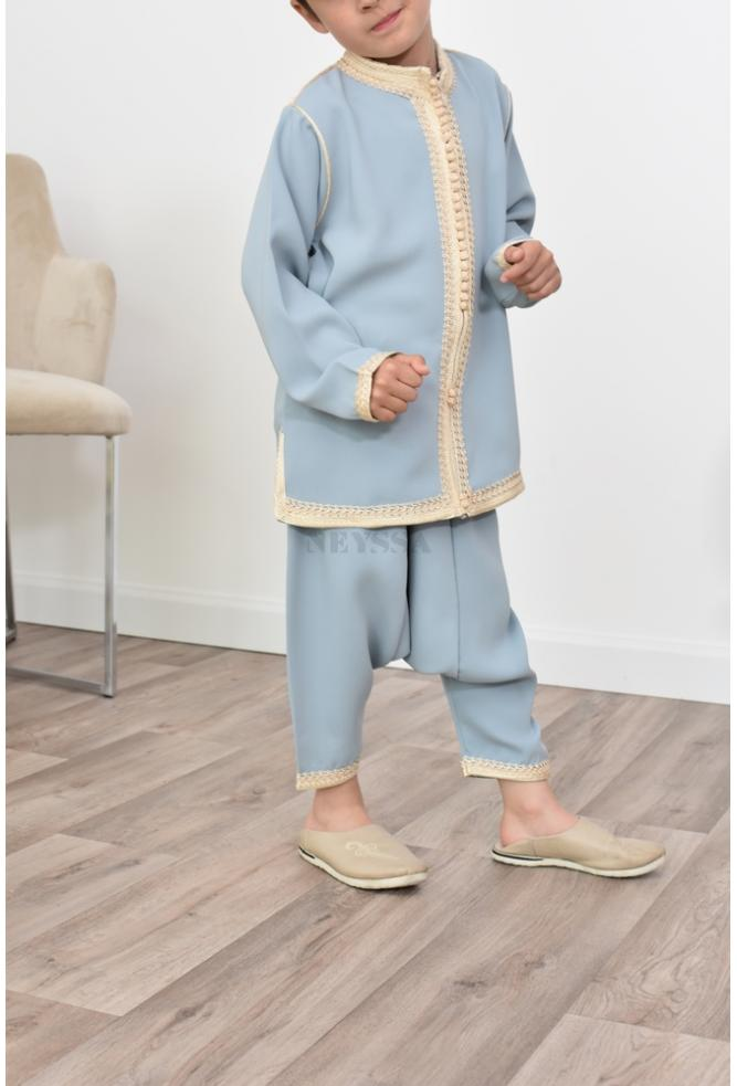 Blue denim Boy's aladdin outfit perfect for parties