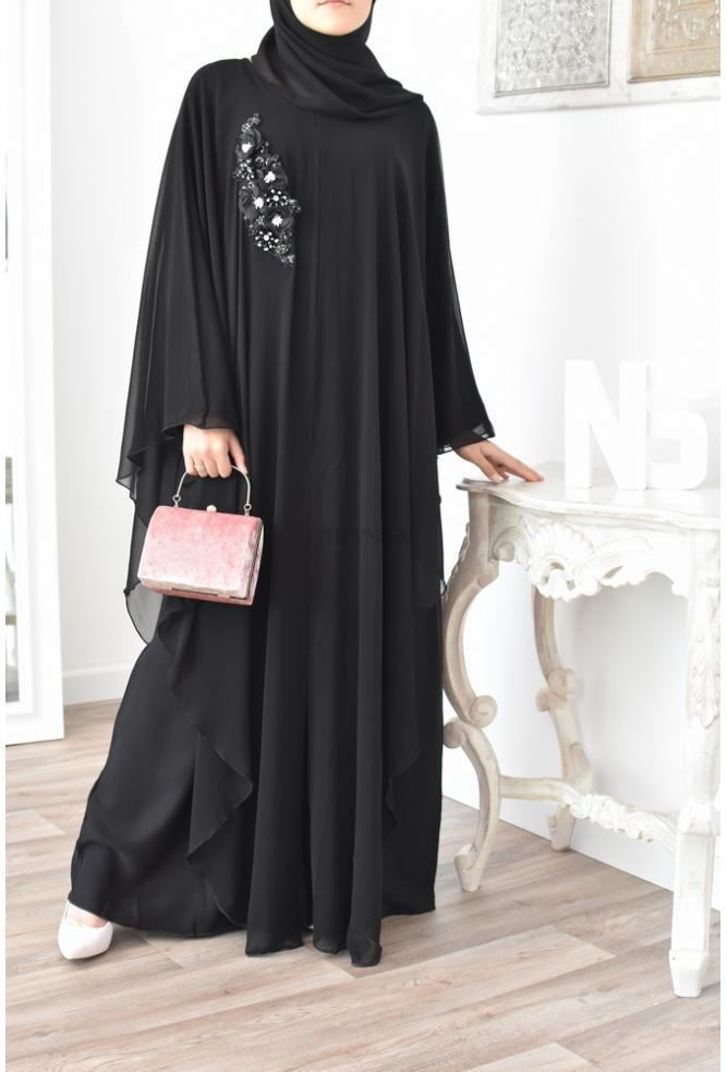 Abaya papillon Sultana Rose