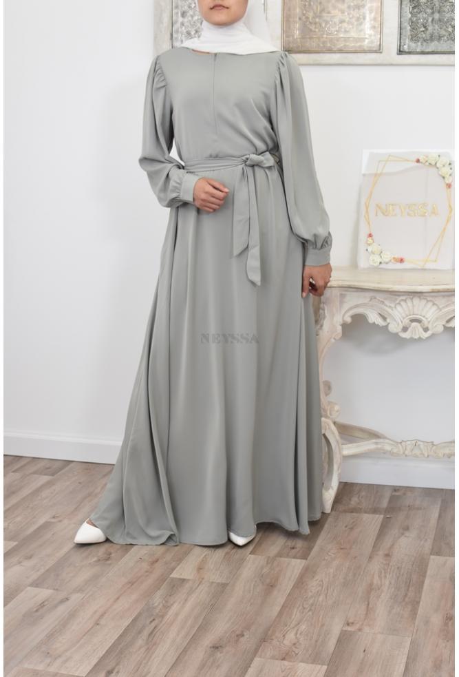 Flowing flared long dress Neyssa Shop