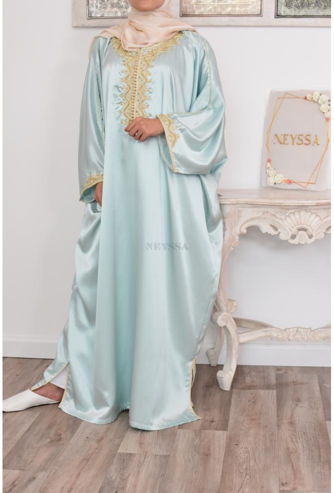 Loose and elegant Abaya Gandoura for Eid