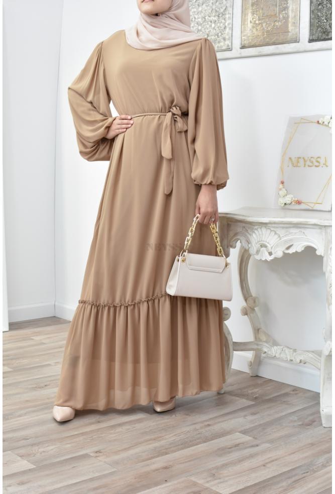 Bohemian chic golden dress