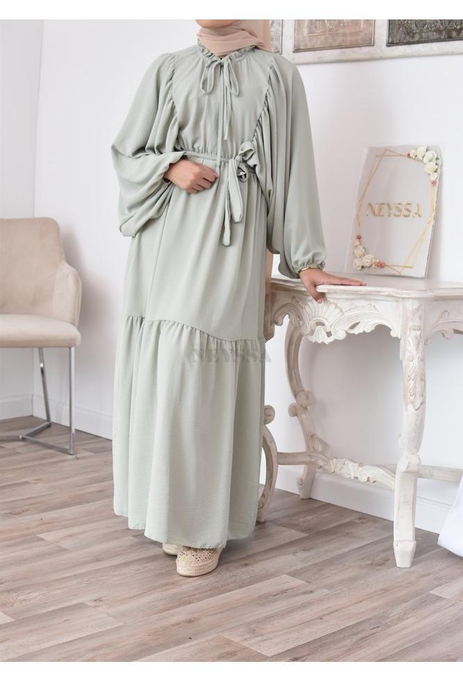 Long Bohemian dress for veiled women modest fashion