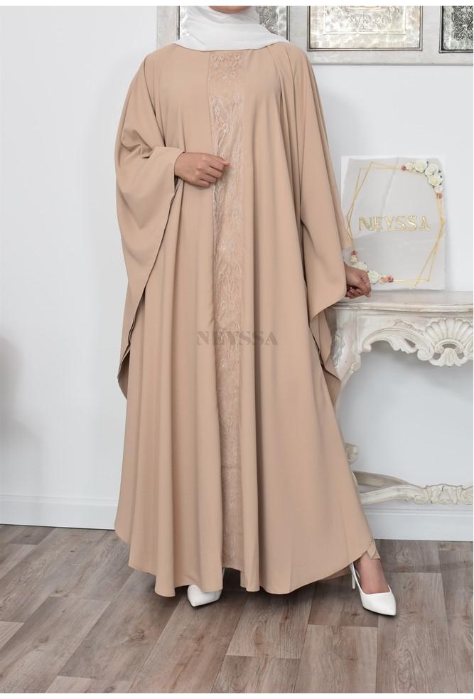 Robe Papillon fluide mastour chic pour femme musulmane