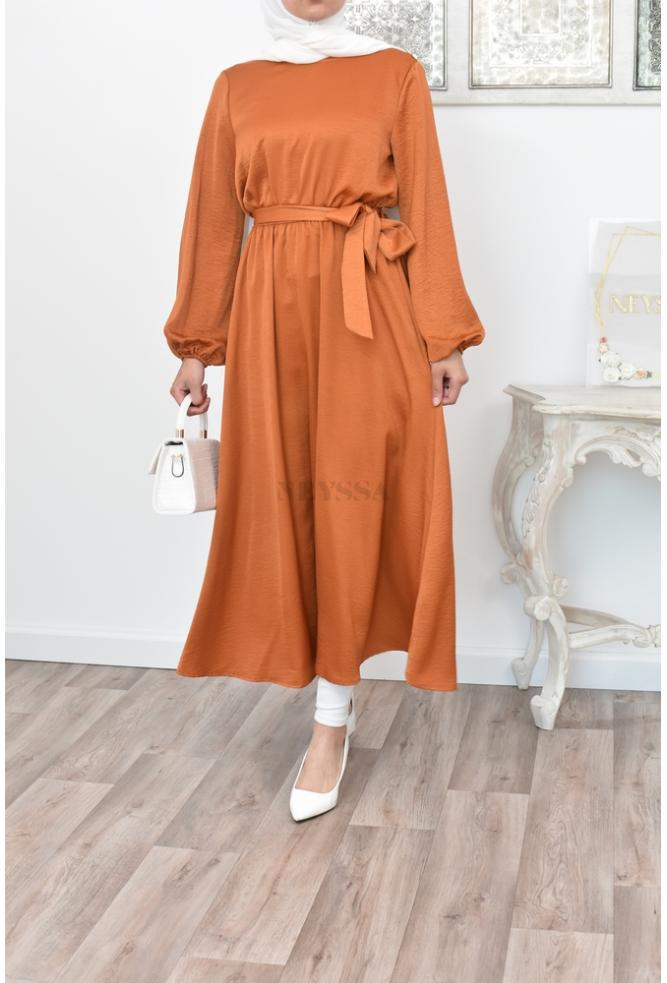 Robe tunique satinée hijabi