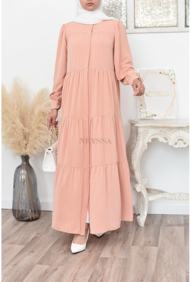 Langes bohemian ausgestelltes Kleid perfekt für verschleierte Frauen Frühling/Sommer