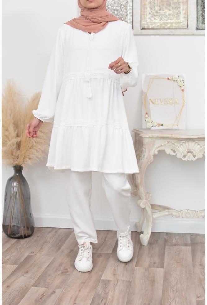 Tunique longue boheme hijab