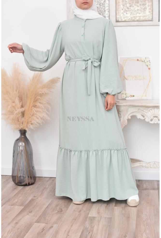 Flared Long bohemian flared dress for veiled women spring/summer
