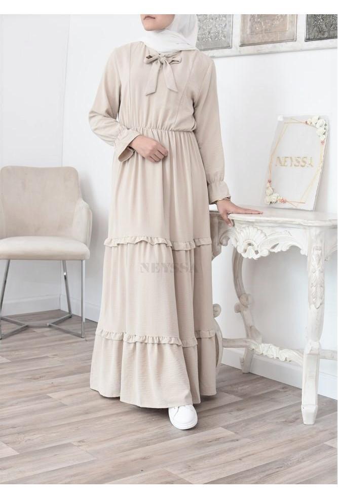 Bohemian chic und lose Kleid für Sommer muslimische Frau