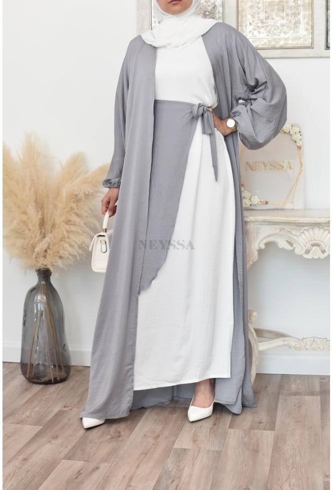 Un ensemble Abaya Dubaï 4 Pièce original et mastour pour femme musulmane