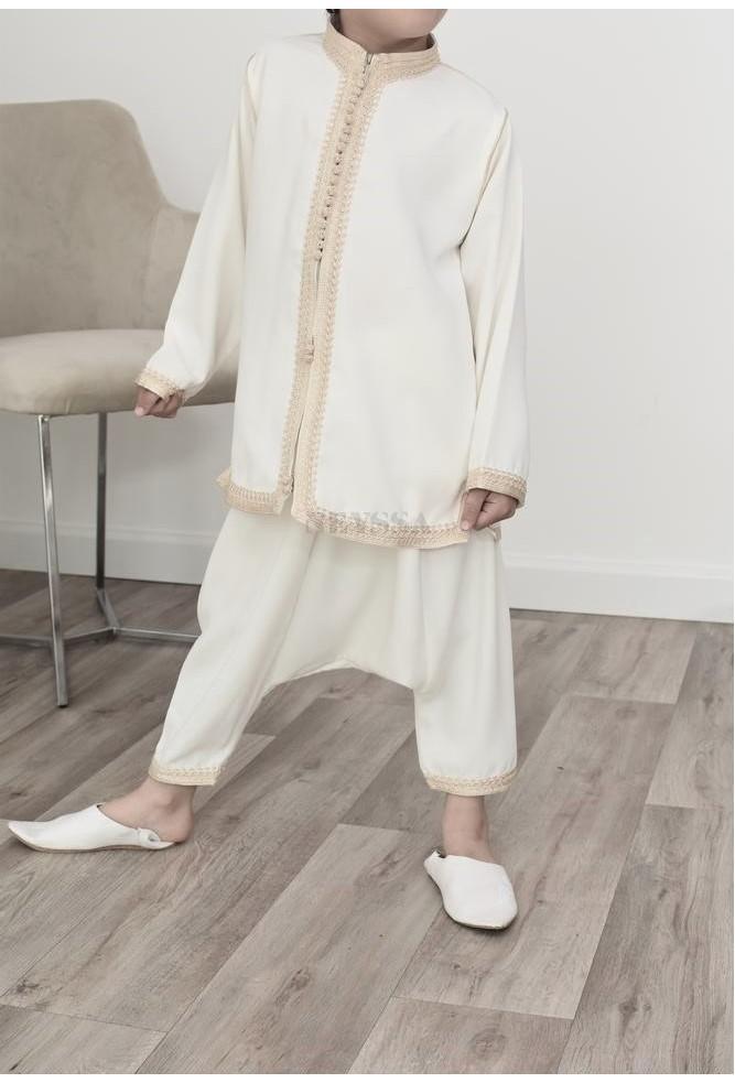 off-white Boy's sarouel set
