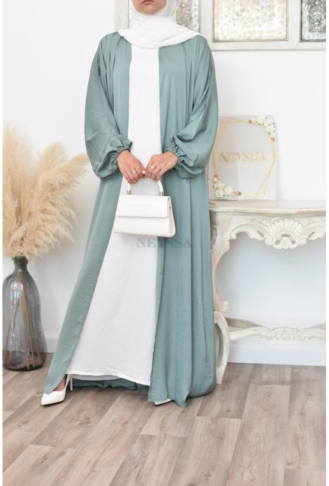 Abaya Dubai Ensemble 4 pièces avec tablier pour femme musulmane