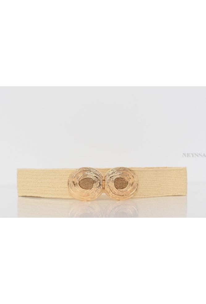Perfect for the Muslim woman's summer outfits, the Elasticated raffia effect belt