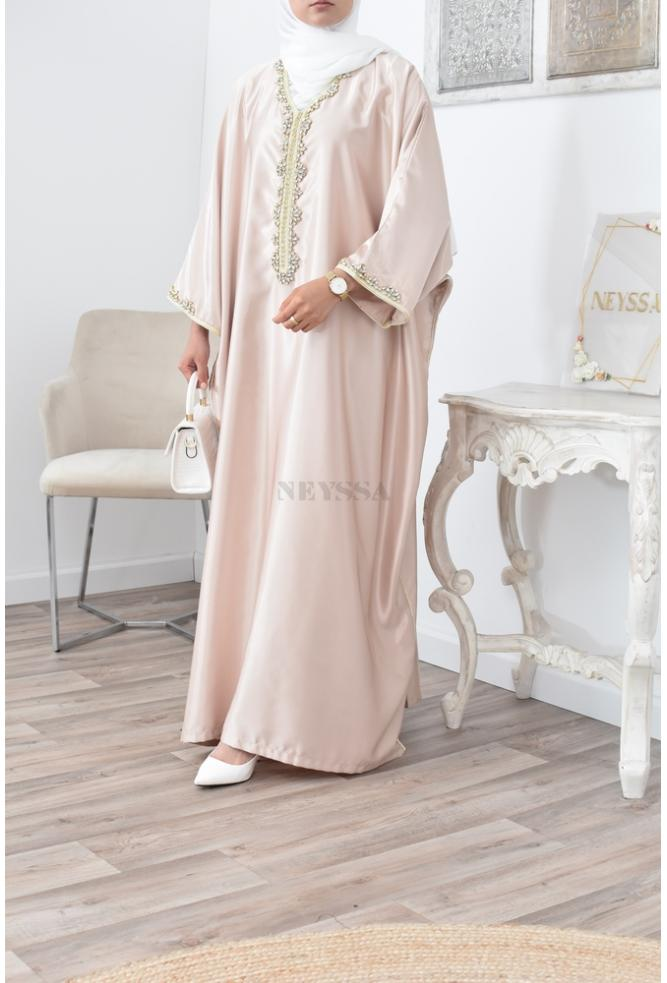 Muslim woman Abaya Gandoura caftan occasional wear suitable for the modest and modern
