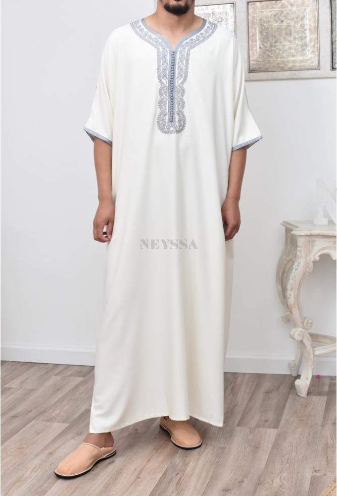 Abaya Gandoura Man Denim Bleu
